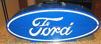 GOBOXES FORD Oval Logo Steel Tool Box Hi-Gloss Powder Coated Finish Steel L@@K