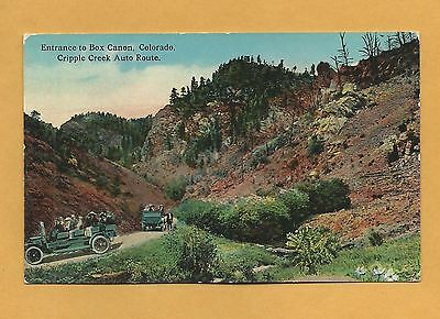 Entrance to Box Canyon, Cripple Creek Auto Route, Colorado