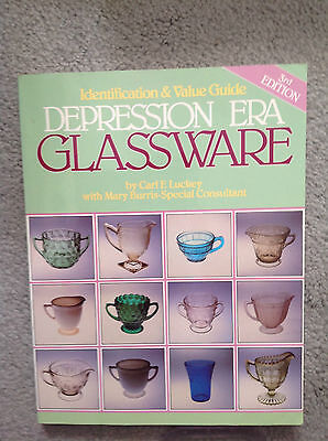 Depression Era Glassware By Luckey 1998 Soft Cover Identification & Value Guide