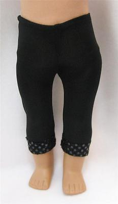 Doll Clothes fit 18 inch American Girl Leggings Black with Sequins
