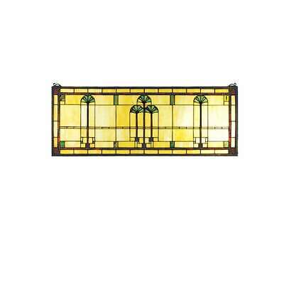 "Meyda Lighting 35""W X 13""H Ginkgo Stained Glass Window, Balt 59 Xag - 50825"