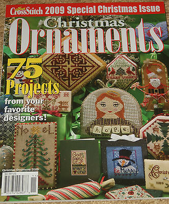 Just Cross Stitch  Christmas Ornaments 2009 Counted Cross Stitch Patterns NEW