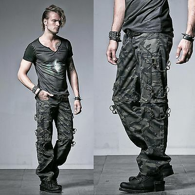 PUNK RAVE Convertible Camo Pants Camouflage Armyhose GOTHIC MILITARY UNIFORM