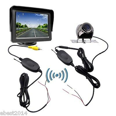 "4.3"" TFT LCD Car Rear View Monitor+2.4G Wireless Reverse Parking Backup Camera"