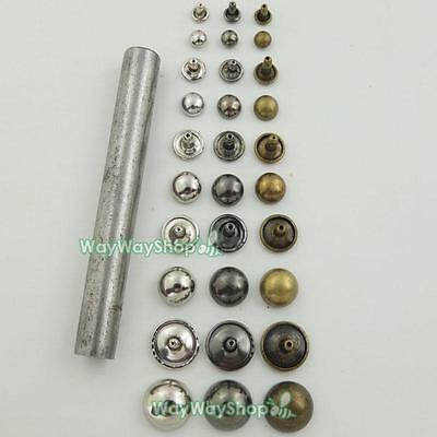 Double Domed Cap Rivet Rapid Stud with tool Leather craft 4 bag clothes Bracelet