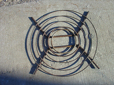 Industrial Atomic Age Steampunk Fan Blade Grille Guard vintage camp stove