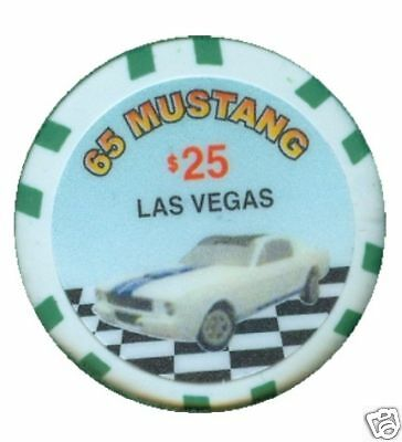 1965 Ford Mustang $25 Collector Chip Vegas Casino Poker