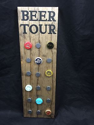 Beer Tour Sign Magnetic Craft Beer Wooden Brewery Man Cave Sign