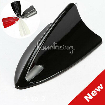 New Black Universal Car Shark Fin Roof Antenna with Decoration LED Light for BMW