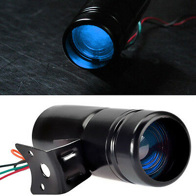 Black Adjustable Tachometer RPM Tacho Gauge Shift Light Lamp Blue LED W8