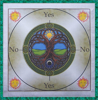 Tree of life Scrying Mat ideal for use with a pendulum, Wicca divination