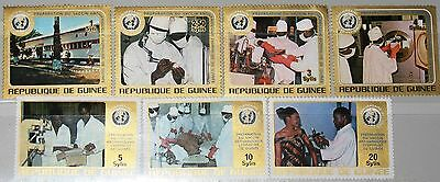 GUINEA 1973 671-77 646-52 25th Ann WHO Institute for applied Biology Medicine **