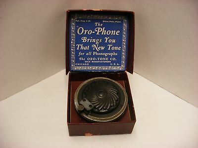 Oddball Phonograph Reproducers  - The Mutual & Oro-phone Box As Is!