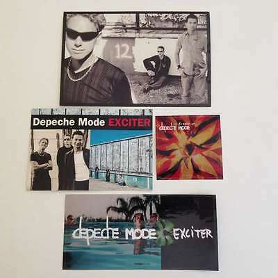 DEPECHE MODE Lot of Promo Stickers & Postcards Exciter Dream On AUTHENTIC