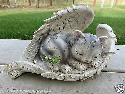 CAT IN WING FIGURINE GIFTCRAFT KITTEN polystone 9.5x5.9x4.7(in) bird garden NEW