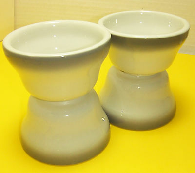 JACKSON CHINA RESTAURANT WARE 4  GRAY AIRBRUSH BOUILLON CHILE SOUP  BOWLS CUPS