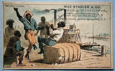 Max Stadler & Co. Clothiers Black Americana Trade Card from the 19th Cent