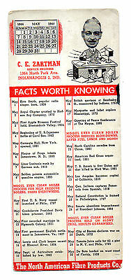 Facts Worth Knowing Ad Blotter with 1944 Calendar North American Fibre Products