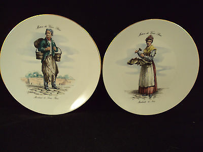 Pair of Bareuther Waldsassen German Character Plates
