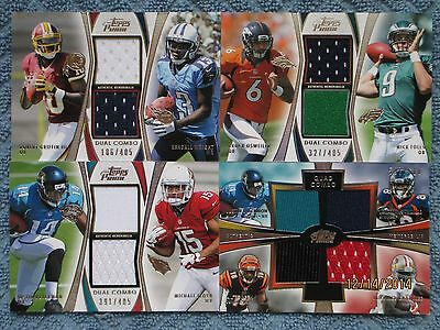 2012 Topps Prime Relic Card Lot Robert Griffith III, Nick Foles, A.J. Green+more