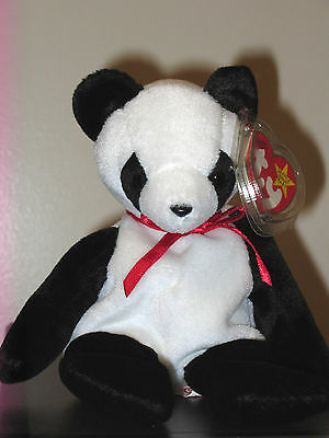 Ty Beanie Baby ~ FORTUNE the Panda Bear ~ MINT ~ RETIRED