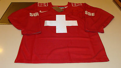 Team Swiss 2015 World Juniors Championship XL Hockey Jersey IIHF Red