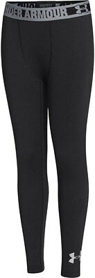 Under Armour ColdGear Evo Fitted Compression Junior Long Tights - Black