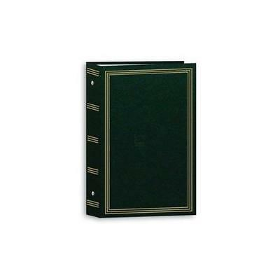 Green Photo Memory Album Storage, 3 Ring Pocket,Fits 504 4x6 Pictures New