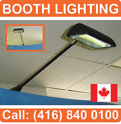 LOT OF 2 - BOOTH LIGHTING Tradeshow Spot Light for Pop Up Displays Banner Stands