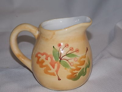 Hand   Painted   Pottery  Ceramic   Creamer  Pitcher