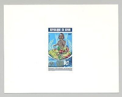 Benin Food Children UN FAO 1v Deluxe Sheet