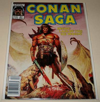 CONAN SAGA  Marvel Comics Magazine # 37   April 1990  VFN    Conan The Barbarian