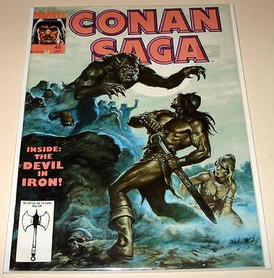 CONAN SAGA  Marvel Comics Magazine # 46   Jan 1991  FN/VFN  Conan The Barbarian