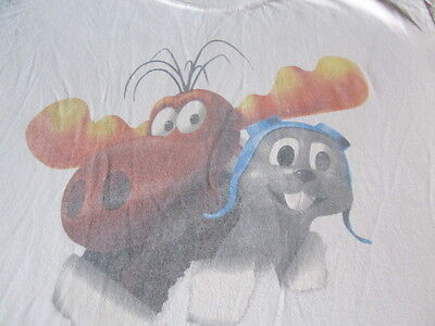 Rocky And Bullwinkle Vintage Tee Shirt Not The Same Old Bull Xl Tee