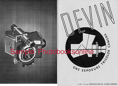 Devin One Exposure Tricolor Camera Catalog with Prices,1938: Reprint