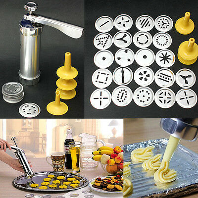 22X Stainless Steel Biscuit Cake Maker Mold Cookie Press Machine Decorating