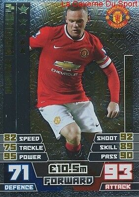Le3 Rooney Manchester United Gold Limited Edition Card Match Attax 2015 Topps