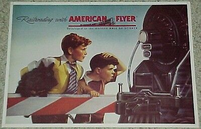 OLD Vintage 1946 AMERICAN FLYER Train RR Railroad LITHO Collectable Poster Print