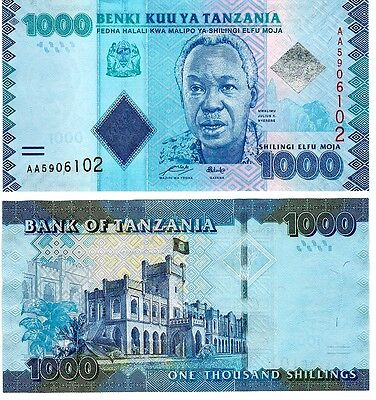 2010 Tanzania 1000 Shillings Uncirculated Note