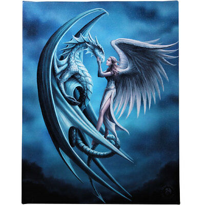Fantasy Gothic Art Canvas Wall Plaque~Silver Back~by Anne Stokes~28~uk seller
