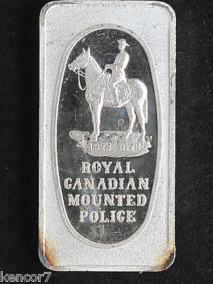 1973 Royal Canadian Mounted Police Silver Art Bar GLM-15 Great Lakes Mint P1082
