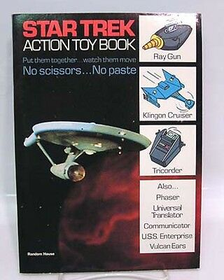 1976 STAR TREK ACTION TOY BOOK Un-Used (J6784)