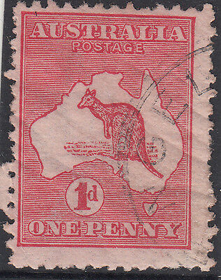 RARE stamp Australia 1d red Kangaroo die 2A variety BIG CRACK in state 1 popular