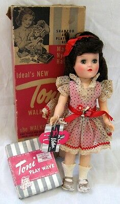 All Original Vintage 1954 IDEAL TONI WALKER DOLL in Box w/ Tag
