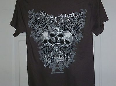 2012 LAUGHLIN NEVADA RIVER RUN  30th ANNUAL  T SHIRT  SMALL NWOT BROWN