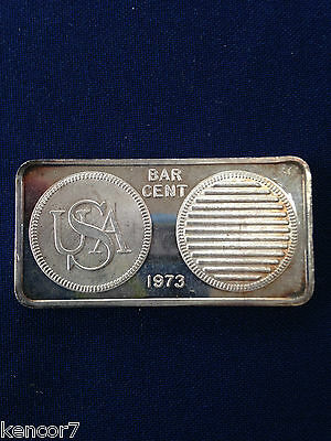 1973 Great Lakes Mint Bar Cent GLM-9 Silver Art Bar P1242