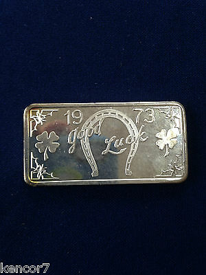 1973 Great Lakes Mint Good Luck 1973 GLM-3 Silver Art Bar P1244
