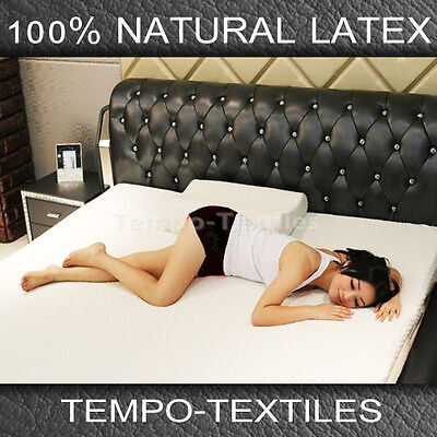 New 100% Pure Nature Healthy Sleep Latex Hypoallergenic Topper Overlay QUEEN Bed