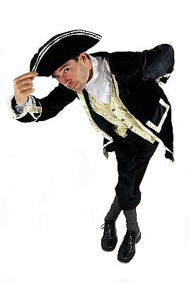 Costume Aristocrat Pirate Captain Baroque Men's Feudal Owner Landlord Court