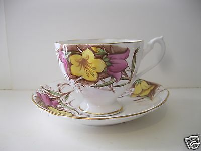 Queen Anne Bone China Floral Tea Cup & Saucer England